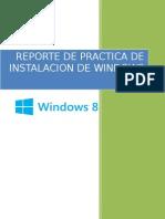 Reporte de Practica WINDOWS 8