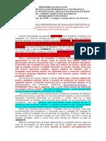 Normas Gerais Para Apresentação de Trabalhos Científicos e Maquetes