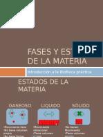 fases y estados de la materia