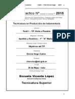 Modelo de Caratula e Informe de TP 2015