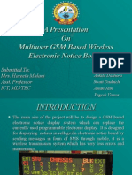 Multiuser Wireless Electronic Notice Board Based on Gsm