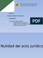 nulidad de acto juridico