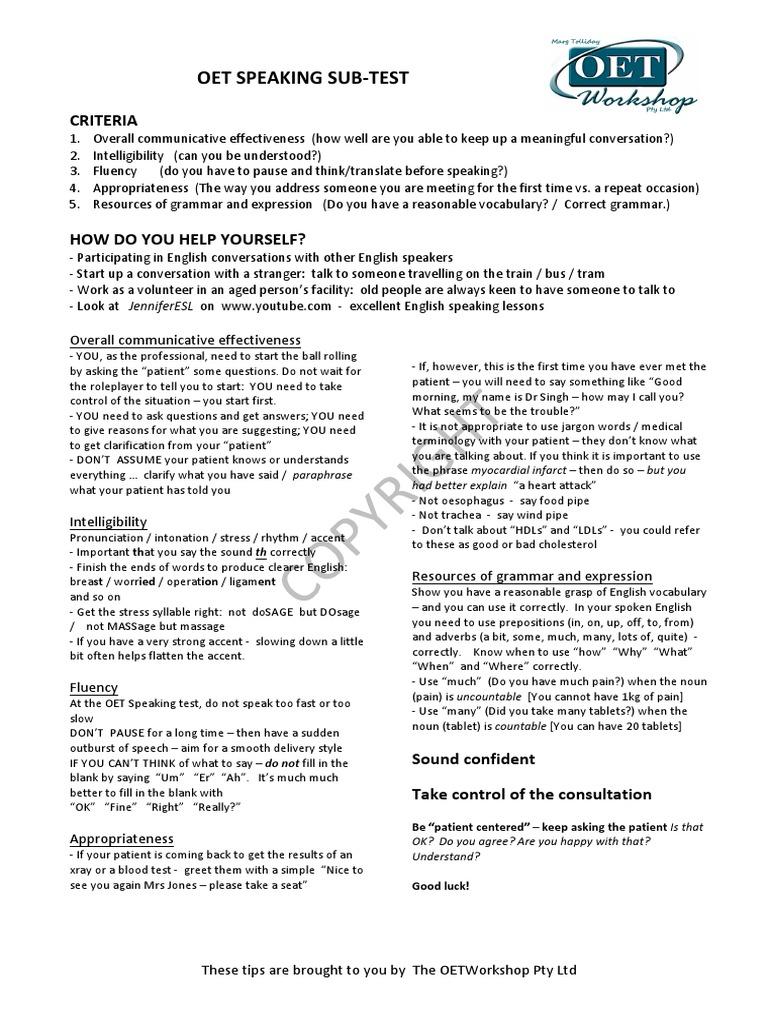 Speaking Subset Tips | Stress (Linguistics) | English Language