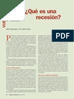 Qué Es Una Recesión