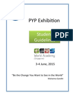 gwa pyp exhibition student guidelines june 2015