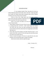format urutan Kata Pengantar Dan Daftar Isi