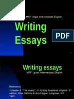 MAF D Writing Essays
