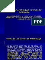 ESTILO DE APRENDIZAJES Y ENSEÑANZA.ppt
