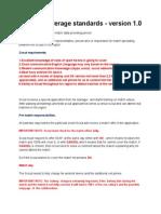 Soccer Coverage Standards - Version 1.0(3)