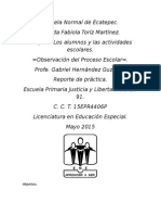 Reporte de practica USAER 91