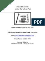 final marketing plan defiant records