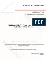 Nutiny-sdk-nuc140 User Manual en v1.0