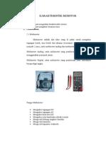 1 Karakteristik Resistor