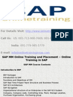 SAP MM Online Training and Placement - Online Training in SAP