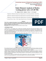 Design and Finite Element Analysis of Hydro Test rig for testing piston valve (15-40 NB)