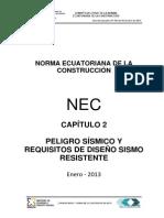 Normas Ecuatorianas de Construcción Cap2 Peligro Sismico