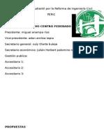 Participación Estudiantil Por La Reforma de Ingeniería Civil