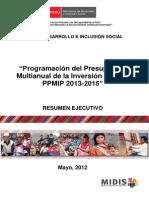 Programación Del Presupuesto 2015
