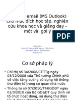 Su Dung Email (Outlook) Trong Giang Day