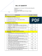 Bill of Quantity_perumahan Tipe 98