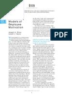 Modele Economice de Motivatie a Angajatilor