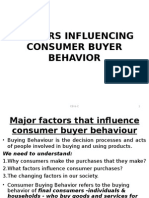 Factors Influencing Buyer Behavior