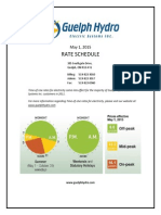May 2015 Rate Schedule - Guelph Hydro