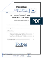 Prince Alwaleed Bin Talal Briefing Book