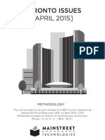 Toronto Issues April 2015