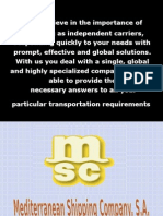 MSC Company Profile