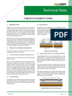 Technical Note TN 29 Concrete Pavement Types