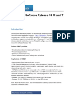 Cisco IOS Software Release 15 M and T