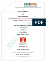 97753692 IDBI Federal Project Report