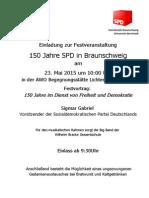 Einladungsplakat - 20150523 - 150 Jahre SPD in BS