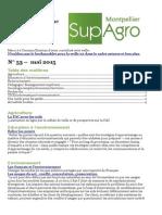 Bulletin de veille n°53 mai 2015 de Supagro Florac