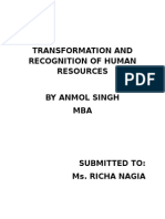 Transformation and Recognition of HR