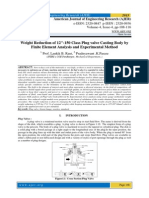 """Weight Reduction of 12""""-150 Class Plug valve Casting Body by Finite Element Analysis and Experimental Method"""