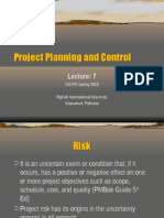 Project Planning and Control- Risk Management