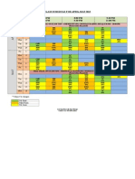 Class Schedule March-April