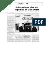 150506 La Verdad- El Banco Internacional Abre Sus Puertas Al Público en Main Street