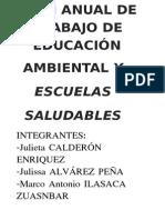 Plan Anual Educación Ambiental