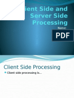 client side and server side processing