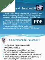 Topic 4 - Personaliti Diri