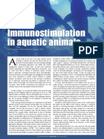 Immunostimulation in aquatic animals