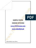 Junior Officer OG-1 Sample Paper