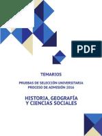 2016 Demre Temario Historia