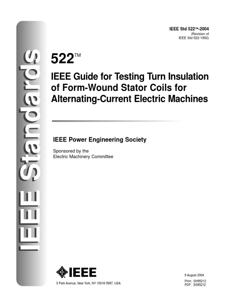 IEEE Guide for Insulation Maintenance for Rotatingelectrical Machinery (5 HP to Less Than 10....