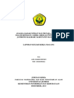 Analisa Kadar Nitrat Dan Ph Pada Air Minum Dalam Kemasan Amdk Airolas Ptpn Xii Kebun Jatirono Kalibaru Kabupaten Banyuwangi