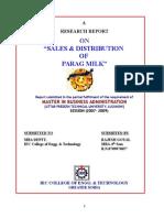 Sales Distribution of Parag Milk summer training pro