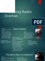 analysing radio drama